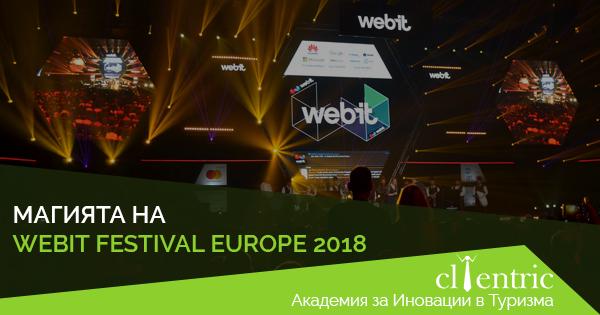 Clientric част от дигиталния свят на Webit.Festival Europe 2018
