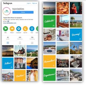 Topola Skies Resort Instagram визия